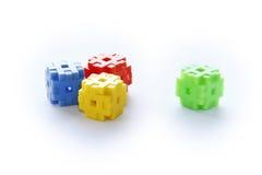 Ζωηρόχρωμος των παιχνιδιών κατασκευής Στοκ εικόνα με δικαίωμα ελεύθερης χρήσης