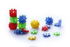 Ζωηρόχρωμος των παιχνιδιών κατασκευής Στοκ Εικόνα