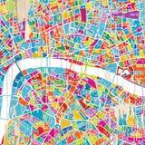 Ζωηρόχρωμος χάρτης του Λονδίνου απεικόνιση αποθεμάτων