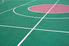 Ζωηρόχρωμος χώρος αθλήσεων με το λευκό που χαρακτηρίζει τη γραμμή Στοκ Εικόνες