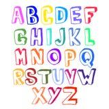 Ζωηρόχρωμος όγκος αλφάβητου Στοκ εικόνες με δικαίωμα ελεύθερης χρήσης