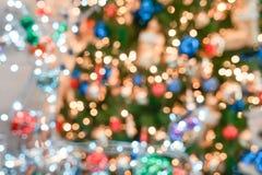 Ζωηρόχρωμος & όμορφος μουτζουρωμένος κύκλος bokeh, από το υπόβαθρο εστίασης στην έννοια και το θέμα Χριστουγέννων στοκ φωτογραφίες με δικαίωμα ελεύθερης χρήσης