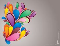 ζωηρόχρωμος floral ανασκόπηση&sigma Ελεύθερη απεικόνιση δικαιώματος