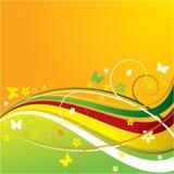ζωηρόχρωμος floral ανασκόπηση&sigma Απεικόνιση αποθεμάτων