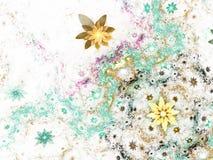 Ζωηρόχρωμος fractal floral κήπος απεικόνιση αποθεμάτων