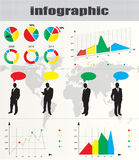 ζωηρόχρωμος infographic Στοκ φωτογραφία με δικαίωμα ελεύθερης χρήσης