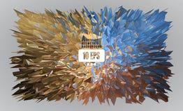 Ζωηρόχρωμος polygonal εκρήγνυται στο φωτεινό υπόβαθρο Στοκ φωτογραφία με δικαίωμα ελεύθερης χρήσης