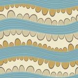 Ζωηρόχρωμο άνευ ραφής αφηρημένο σχέδιο, με τα οριζόντια κύματα Στοκ φωτογραφία με δικαίωμα ελεύθερης χρήσης