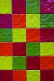 Ζωηρόχρωμο άνευ ραφής σχέδιο κεραμιδιών με τα τετράγωνα στοκ φωτογραφία