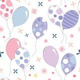 Ζωηρόχρωμο άνευ ραφής σχέδιο μπαλονιών χρώματος κρητιδογραφιών στοκ φωτογραφία