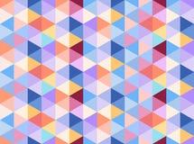 Ζωηρόχρωμο άνευ ραφής σχέδιο που αποτελείται από τα θερμά και κρύα τρίγωνα χρωμάτων Ελεύθερη απεικόνιση δικαιώματος