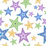 Ζωηρόχρωμο άνευ ραφής σχέδιο αστεριών Στοκ Εικόνα