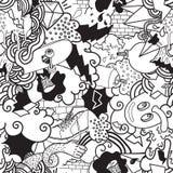 Ζωηρόχρωμο άνευ ραφής σχέδιο γκράφιτι Στοκ Εικόνες