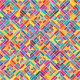 Ζωηρόχρωμο άνευ ραφής σχέδιο οκτώ μορφής διαμαντιών Στοκ φωτογραφία με δικαίωμα ελεύθερης χρήσης