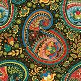 Ζωηρόχρωμο άνευ ραφής σχέδιο του Paisley Στοκ Εικόνες