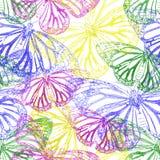 Ζωηρόχρωμο άνευ ραφής υπόβαθρο από την πεταλούδα Στοκ Εικόνα
