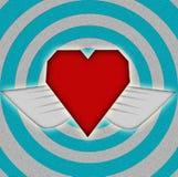 ζωηρόχρωμο έγγραφο καρδιών Στοκ εικόνες με δικαίωμα ελεύθερης χρήσης