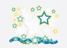 Ζωηρόχρωμο έγγραφο κομματιών αστεριών διανυσματική απεικόνιση
