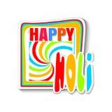 Ζωηρόχρωμο έμβλημα για το ινδικό φεστιβάλ των χρωμάτων - Holi ευτυχές holi Στοκ φωτογραφία με δικαίωμα ελεύθερης χρήσης