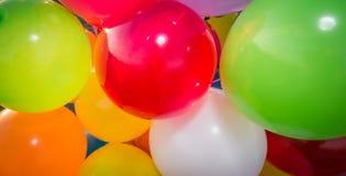Ζωηρόχρωμο έμβλημα μπαλονιών αέρα Στοκ εικόνα με δικαίωμα ελεύθερης χρήσης