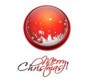 Ζωηρόχρωμο έμβλημα Χριστουγέννων ελεύθερη απεικόνιση δικαιώματος