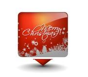 Ζωηρόχρωμο έμβλημα Χριστουγέννων διανυσματική απεικόνιση