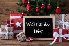 Ζωηρόχρωμο δέντρο, γιορτή Χριστουγέννων μέσων Weihnachtsfeier Στοκ φωτογραφίες με δικαίωμα ελεύθερης χρήσης