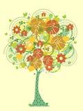 Ζωηρόχρωμο δέντρο εικονιδίων Στοκ Φωτογραφίες