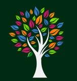 Ζωηρόχρωμο δέντρο ελπίδας Στοκ Εικόνες