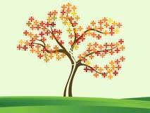 Ζωηρόχρωμο δέντρο Στοκ Εικόνες