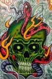 Ζωηρόχρωμο έργο τέχνης γκράφιτι ως τέχνη οδών στη Μελβούρνη, Αυστραλία Στοκ εικόνες με δικαίωμα ελεύθερης χρήσης