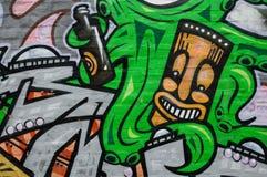Ζωηρόχρωμο έργο τέχνης γκράφιτι ως τέχνη οδών στη Μελβούρνη, Αυστραλία Στοκ Εικόνα