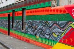Ζωηρόχρωμο έργο τέχνης γκράφιτι ως τέχνη οδών στη Μελβούρνη, Αυστραλία Στοκ φωτογραφίες με δικαίωμα ελεύθερης χρήσης