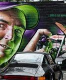Ζωηρόχρωμο έργο τέχνης γκράφιτι ως τέχνη οδών στη Μελβούρνη, Αυστραλία Στοκ Εικόνες
