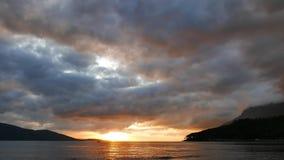 Ζωηρόχρωμο αιγαίο ηλιοβασίλεμα το φθινόπωρο 26 απόθεμα βίντεο
