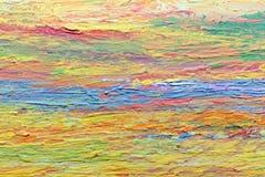 Ζωηρόχρωμο ακρυλικό χρώμα στον καμβά Στοκ εικόνα με δικαίωμα ελεύθερης χρήσης