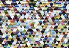Ζωηρόχρωμο λαμπρό τριγωνικό υπόβαθρο. Στοκ εικόνα με δικαίωμα ελεύθερης χρήσης