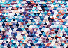 Ζωηρόχρωμο λαμπρό τριγωνικό υπόβαθρο. Στοκ Εικόνες