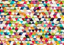 Ζωηρόχρωμο λαμπρό τριγωνικό υπόβαθρο. Στοκ φωτογραφίες με δικαίωμα ελεύθερης χρήσης