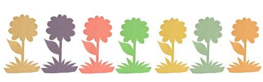 Ζωηρόχρωμο ανακυκλωμένο έγγραφο λουλουδιών. Στοκ Εικόνες