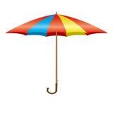 ζωηρόχρωμο ανοίγοντας διάνυσμα ομπρελών στοκ εικόνες