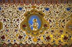 Ζωηρόχρωμο ανώτατο όριο, που βρίσκεται στο οχυρό Mehrangarh ή Mehran, Jodhpur, Rajasthan, Ινδία στοκ φωτογραφία