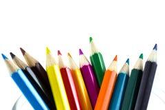 Ζωηρόχρωμο απομονωμένο μολύβια δ Στοκ Εικόνες