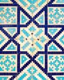 Ζωηρόχρωμο αρχαίο παραδοσιακό του Ουζμπεκιστάν σχέδιο στο κεραμικό κεραμίδι στον τοίχο του μουσουλμανικού τεμένους διανυσματική απεικόνιση