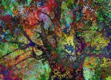 Ζωηρόχρωμο αφηρημένο δέντρο διανυσματική απεικόνιση