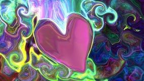 Ζωηρόχρωμο αφηρημένο διάστημα καρδιών υποβάθρου, κόσμος Στοκ εικόνα με δικαίωμα ελεύθερης χρήσης