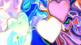 Ζωηρόχρωμο αφηρημένο διάστημα καρδιών υποβάθρου, κόσμος Στοκ Φωτογραφίες