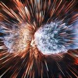 Ζωηρόχρωμο αφηρημένο κοσμικό υπόβαθρο γαλαξιών Λαμπρός κόσμος φαντασίας κόσμος βαθιά Εξερεύνηση απείρου τρισδιάστατη απεικόνιση ελεύθερη απεικόνιση δικαιώματος