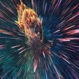 Ζωηρόχρωμο αφηρημένο κοσμικό υπόβαθρο γαλαξιών Λαμπρός κόσμος φαντασίας κόσμος βαθιά Εξερεύνηση απείρου τρισδιάστατη απεικόνιση απεικόνιση αποθεμάτων