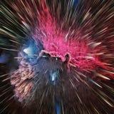 Ζωηρόχρωμο αφηρημένο κοσμικό υπόβαθρο γαλαξιών Λαμπρός κόσμος φαντασίας Βαθύς κόσμος Εξερεύνηση απείρου r ελεύθερη απεικόνιση δικαιώματος